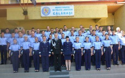 Cei 42 de polițiști călărășeni, încadrați din sursă externă, au depus jurământul de credință