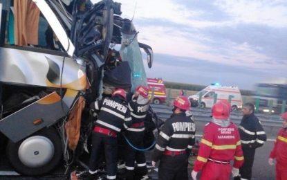 FOTO/Accident grav pe A2.Un bărbat a decedat, iar alte trei femei au fost rănite