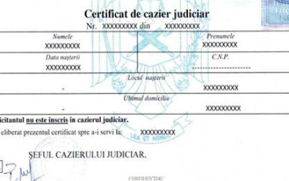 Atenţie, călărășeni: cazierul judiciar se obţine mai simplu