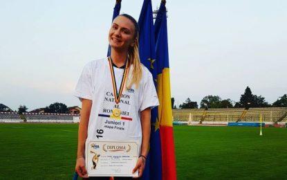 Călărășeanca Alexandra Mihai colecționează medalii de aur/Campioană națională în proba de triplusalt