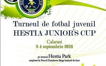 """Premieră, în fotbal, la Călărași/ """"HESTIA JUNIOR'S CUP""""-Turneul campionilor de mâine"""