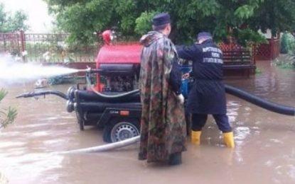 Intervenţii la inundaţii în municipiul Călărași