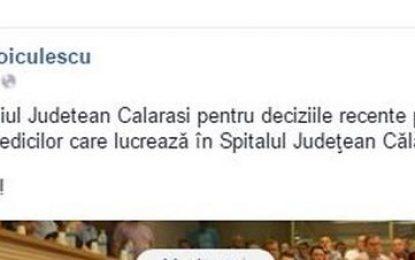 Ce a transmis Ministrul Sănătății Consiliului Județean Călărași?