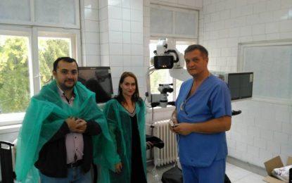O nouă realizare a lui Belușică la SJU Călărași/Primele operații de cataractă cu aparatură nouă