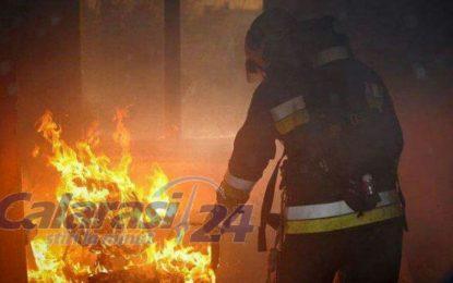 Incendiu puternic la o locuință din Chirnogi