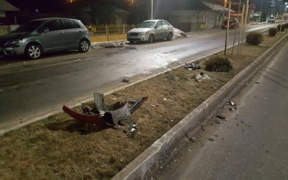 Călărași/Un tânăr de 19 ani a bușit patru mașini dintr-o lovitură (FOTO)
