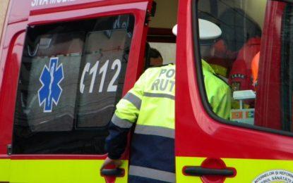 DN 31/Accident cu patru victime după o coliziune frontală dintre un microbuz și o autoutilitară