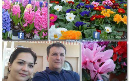 Când dragostea unui călărășean pentru flori se transformă într-o afacere de familie