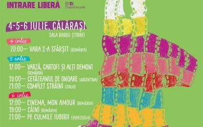 Trei zile cu proiecții gratuite de film la Călărași, la festivalul Tenaris Cinelatino/Vezi programul filmelor