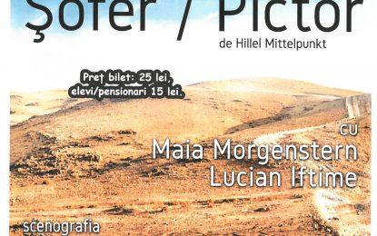 """Eveniment teatral de excepție la Călărași/Maia Morgenstern și Lucian Iftime în spectacolul """"Șofer / Pictor"""""""