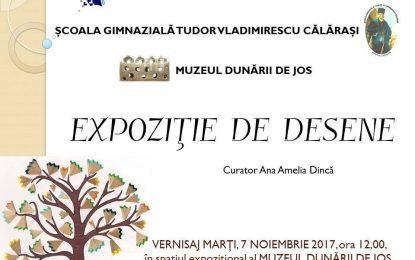 """Elevii Școlii Gimnaziale """"Tudor Vladimirescu"""" își expun desenele la Muzeul Dunării de Jos"""