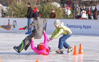 Primăria Călărași,pregătiri pentru Orășelul Copiilor/Vom avea patinoar în aer liber