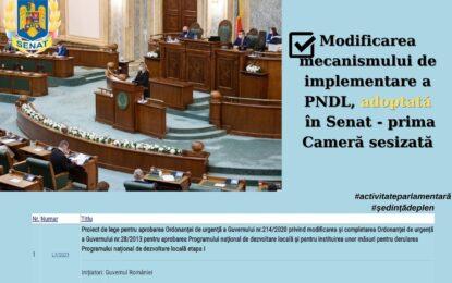 """PNL/Senator Ciprian Pandea: """"Schimbarea mecanismului de implementare a PNDL, ajutor real pentru administrațiile locale"""""""