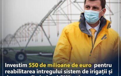 PNL/Emil Florian Dumitru: Bani europeni pentru refacerea sistemului de irigații și desecare din județul Călărași