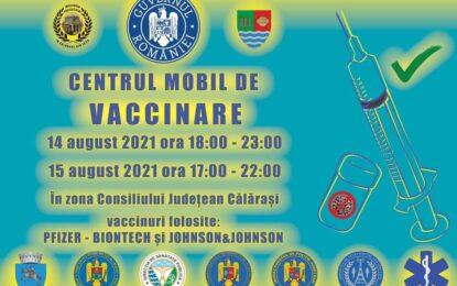 14-15 august 2021/Centrul mobil de vaccinare în municipiul Călărași