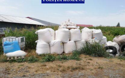 12 tone de îngrășăminte chimice, depozitate necorespunzător în Cuza-Vodă