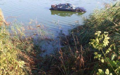 Lehliu/Un bucureștean băut și-a parcat bolidul pe lac