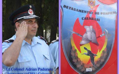 Lt. colonel. Adrian Păduraru este noul inspector șef al ISU Călărași
