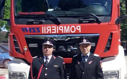 Doi pompieri olteniţeni au ieșit la pensie în aplauzele colegilor
