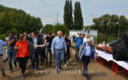 Ministrul Agriculturii, Petre Daea și președintele PSD, Liviu Dragnea, vizită de lucru în județul Călărași