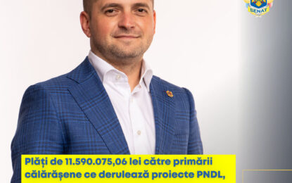 Ciprian Pandea, senator PNL: Dezvoltarea localităților din județul Călărași reprezintă unul dintre obiectivele mandatului meu de senator