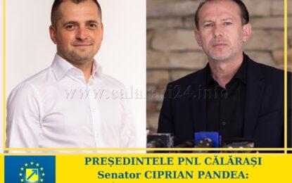"""""""Îl susțin pe Florin Cîțu pentru funcția de președinte al PNL""""- Ciprian Pandea, președinte PNL Călărași"""